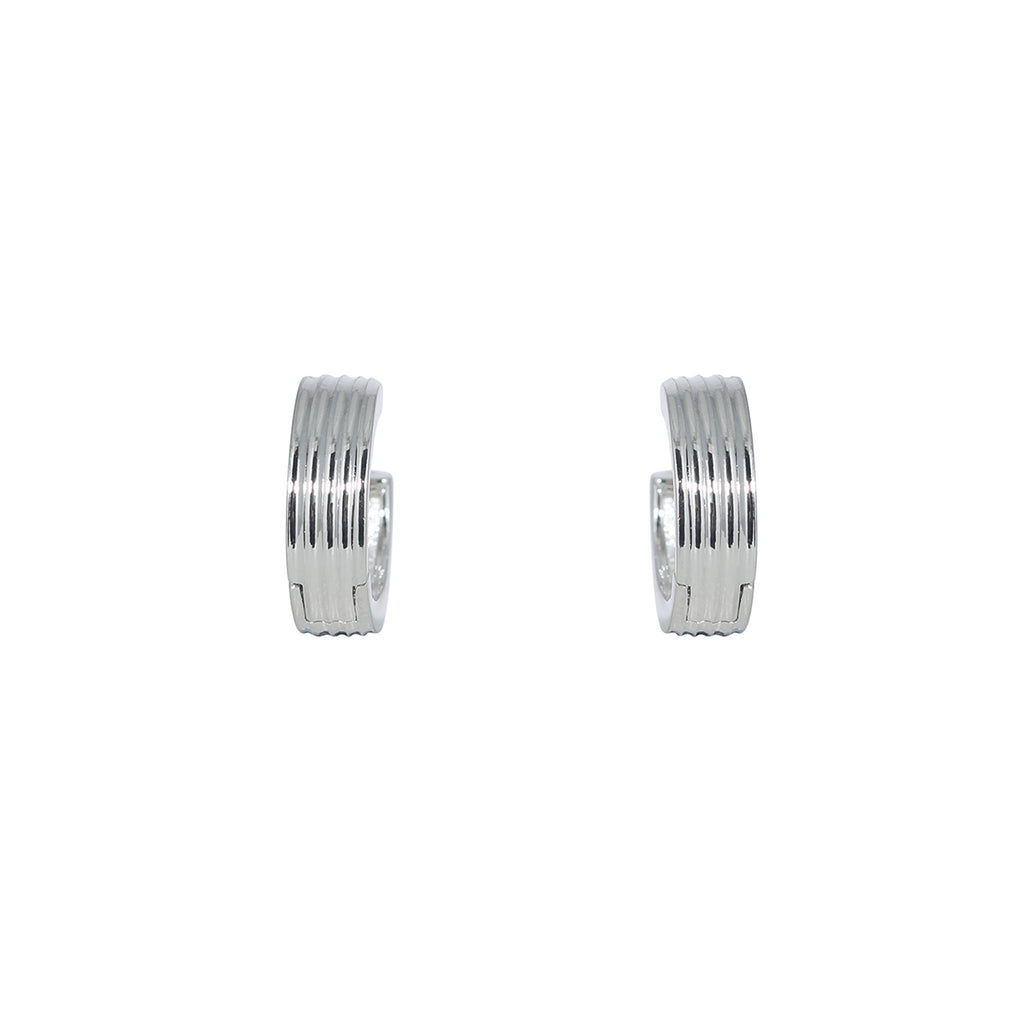 Ridge Cut Huggie Earring