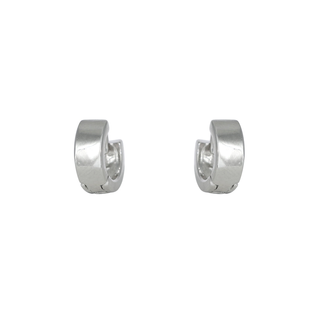 Smooth Finish Huggie Earring