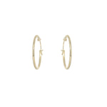 Gold plated 19mm plain hoop earring
