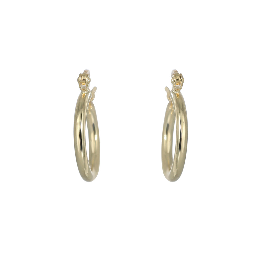 12mm Gold plated plain hoop earring
