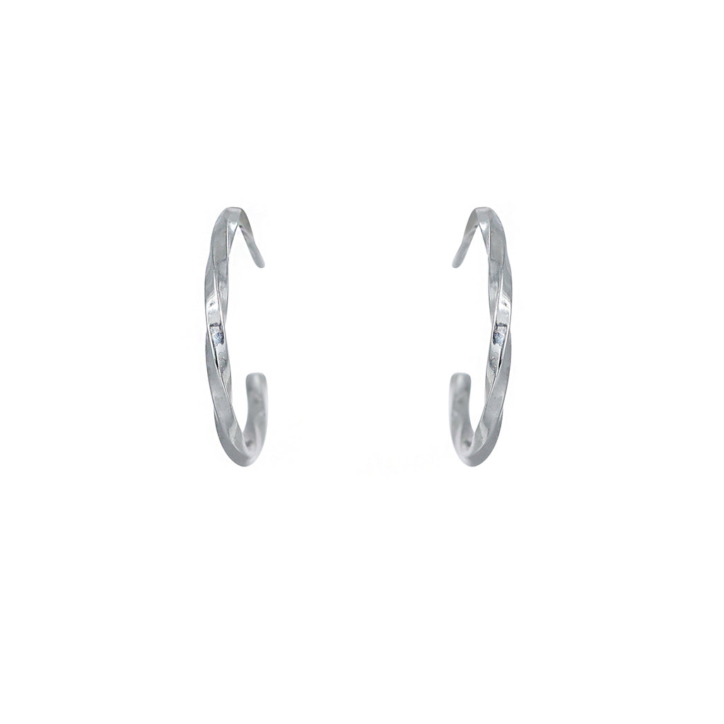 15mm twisted hoop earring