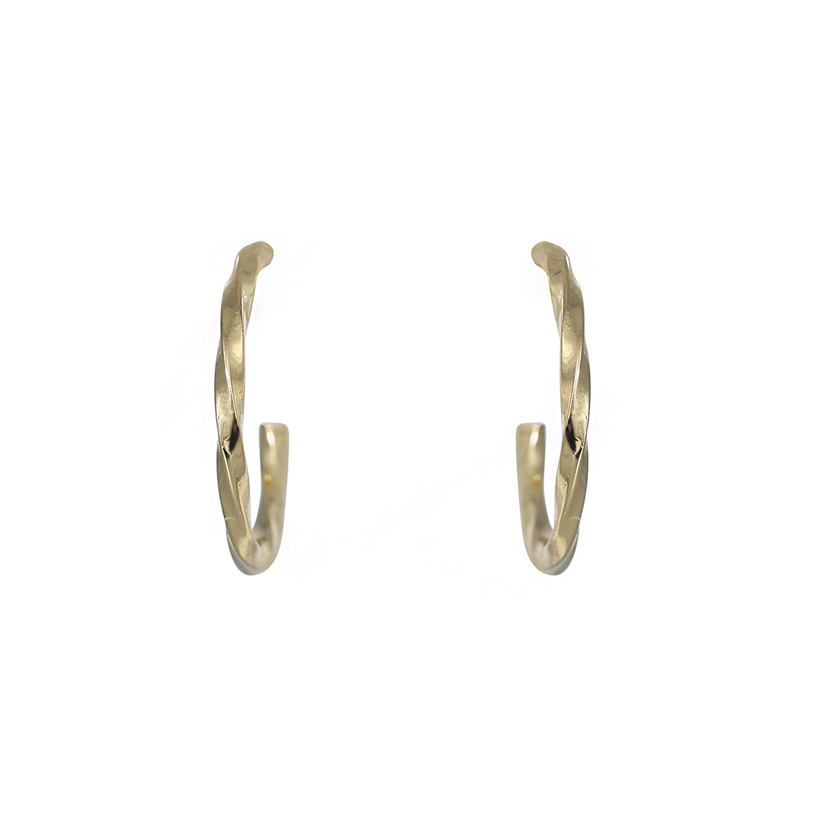 12mm gold plated twisted hoop earring