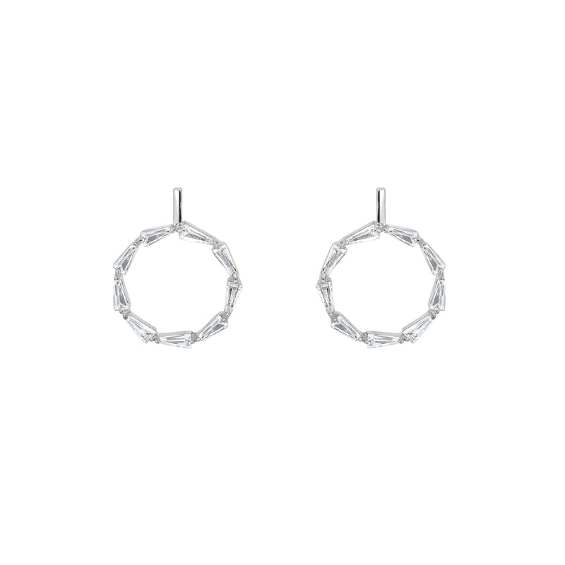 Cut Circle Earrings