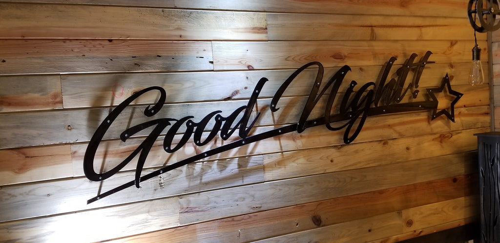 CAD File for GOODNIGHT sign - Bedroom Decor