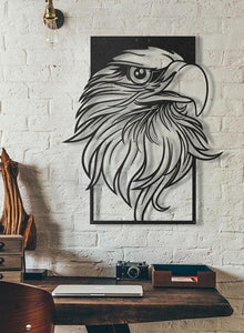 Eagle Head Metal Art DXF/SVG CAD Vector - CNC Plasma