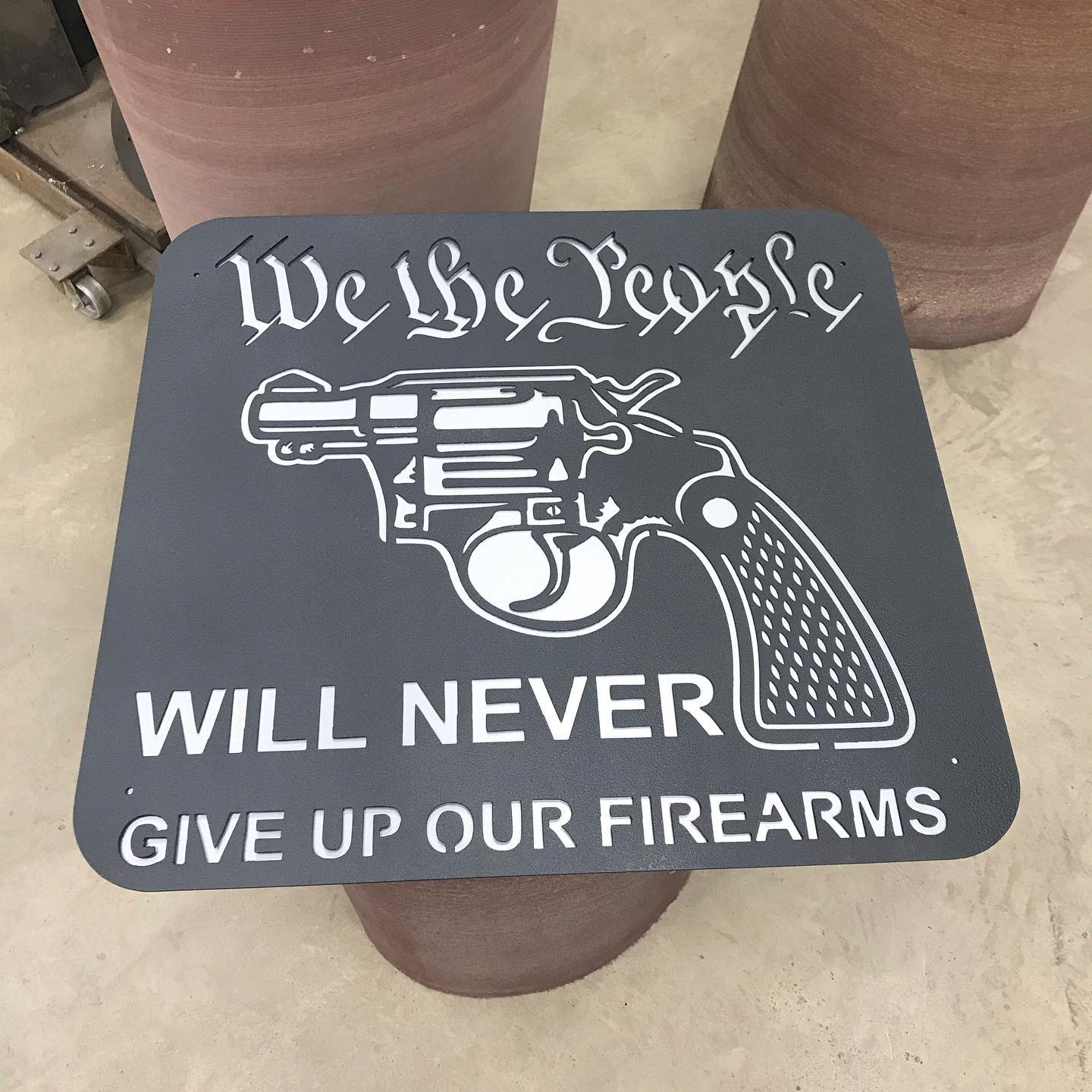 We the people Firearms Gun DXF File