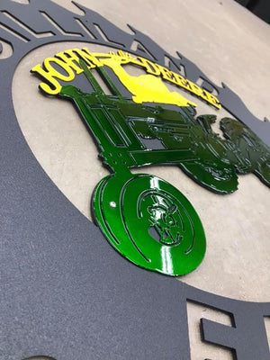 Saw Blade John Deere Tractor Family Farm Sign DXF file