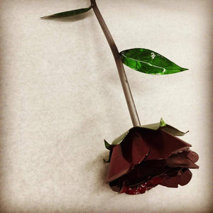 Beautiful and Everlasting Metal Rose with Heart Shaped Base- DXF SVG file