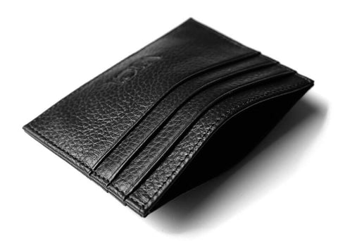 Leather cardholder with RFID (black)