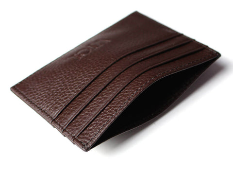 Leather cardholder with RFID (tan)