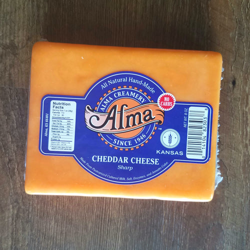 Cheese Block (8oz) - Mild, Sharp, and Hickory Smoked