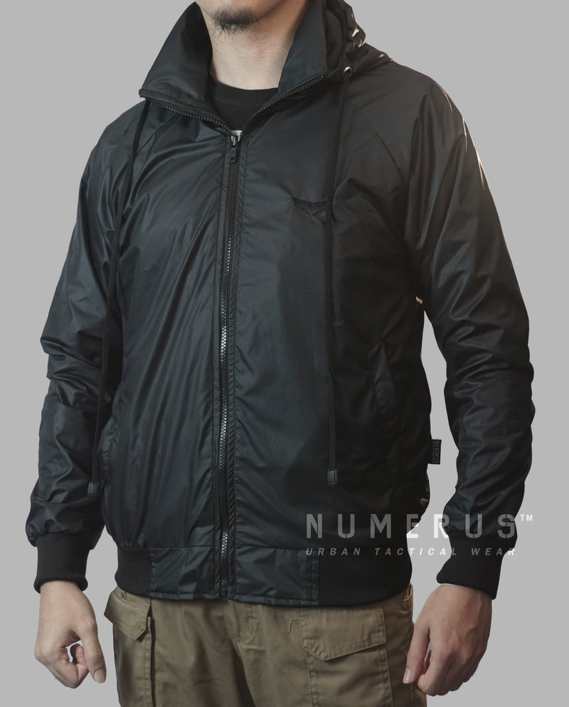 Blackzoid windbreaker jacket - Full black