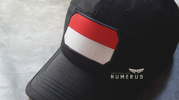 Indonesia Flag Rubber patch