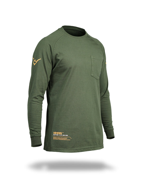 Alpha long sleeves MK-02 - Green army