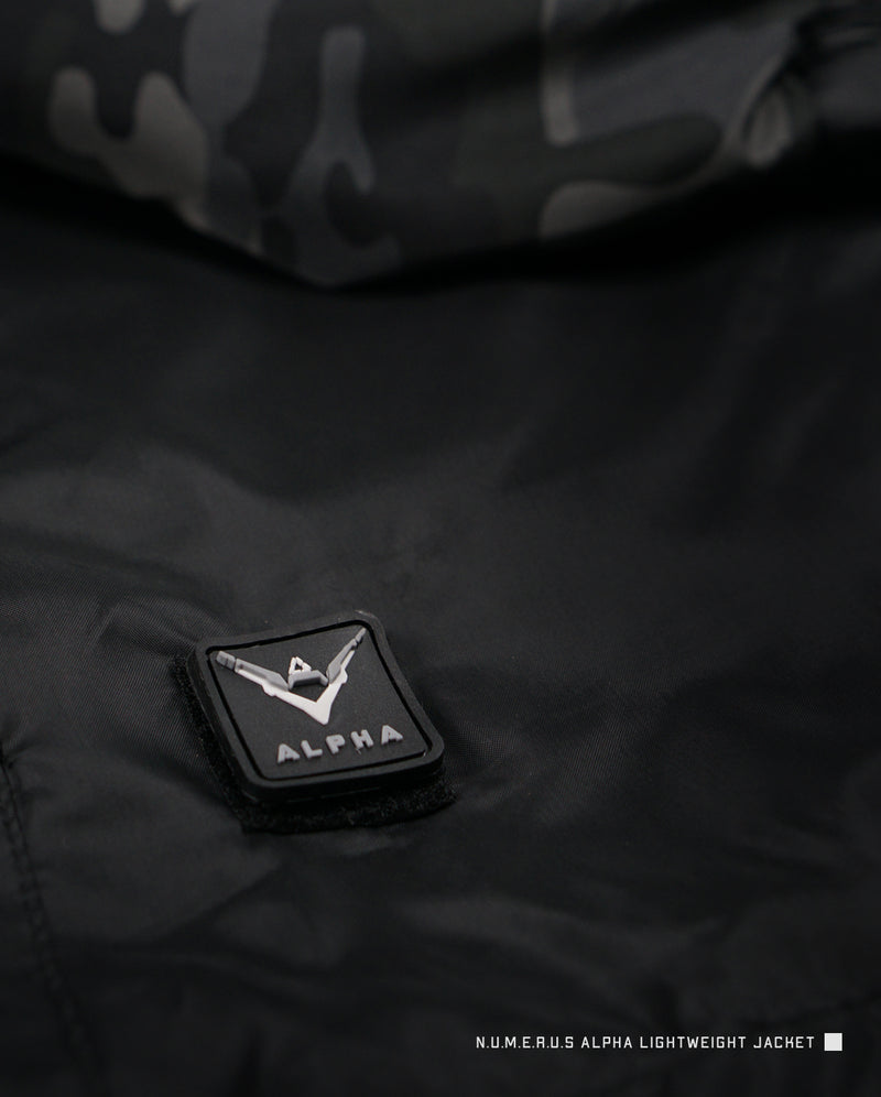 Alpha lightweight jacket - Black camouflage