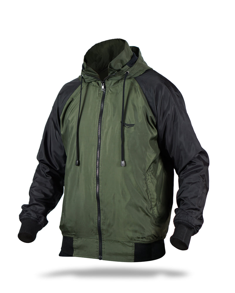 Blackzoid windbreaker jacket - Half olive green