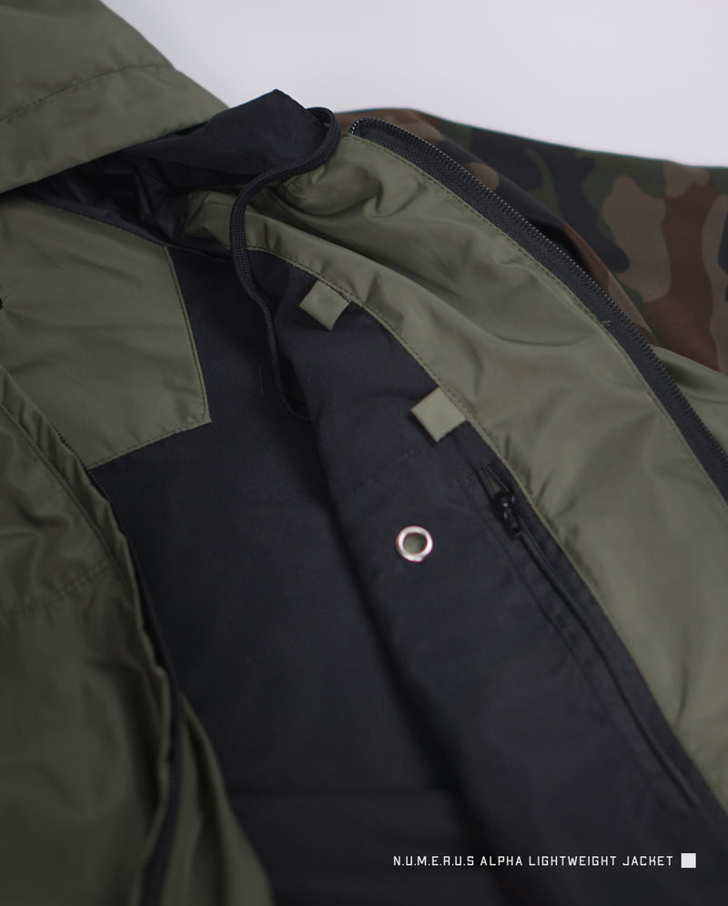Alpha lightweight jacket - Green camouflage
