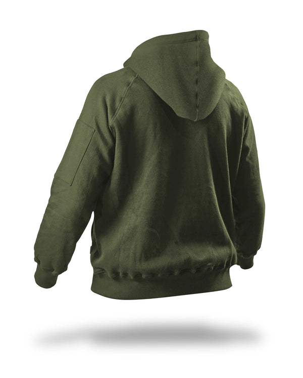 Classic pullover Raptor hoodie - Green army