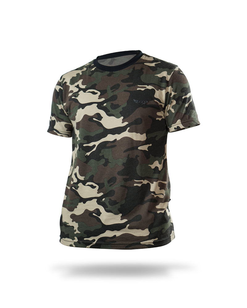 Tricolor camouflage shirt