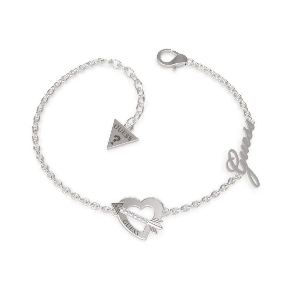 Guess Across My Heart Bracelet Silver