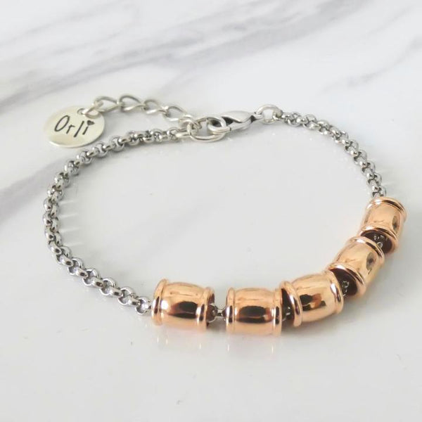 Orli Five Gilders Bracelet in Two Tone