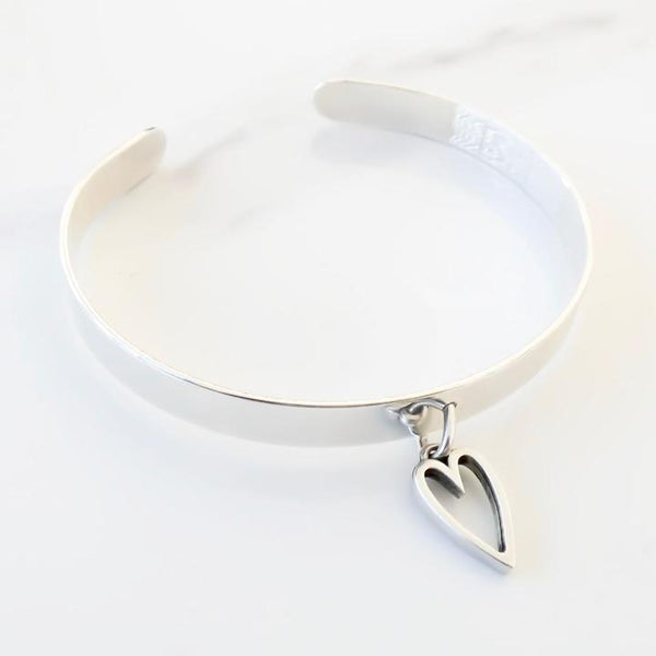 Orli Open Heart Expandable Bangle