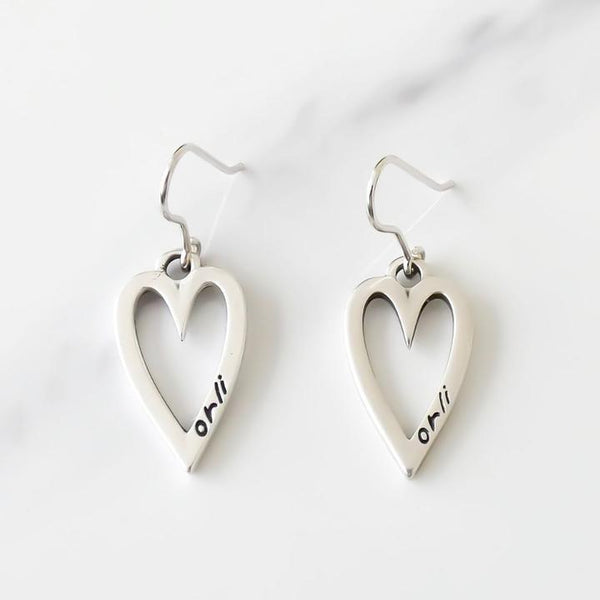 Orli Open Heart Drop Earrings