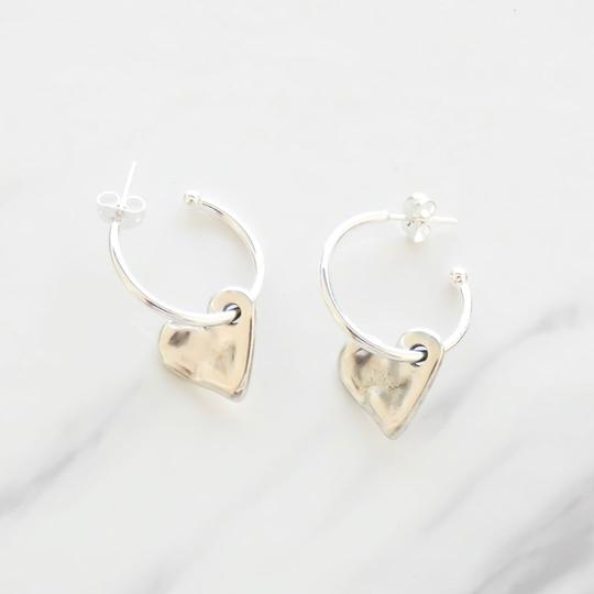 Orli Bevelled Heart Hoop Earrings
