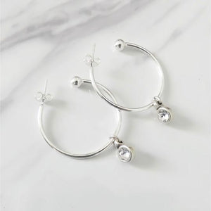 Orli Crystal Hoop Earrings