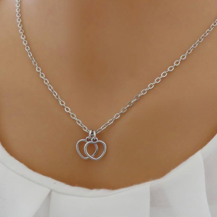 Orli Stencil Heart Fine Necklace