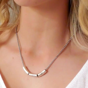 Orli Triple Gliding Barrel Necklace