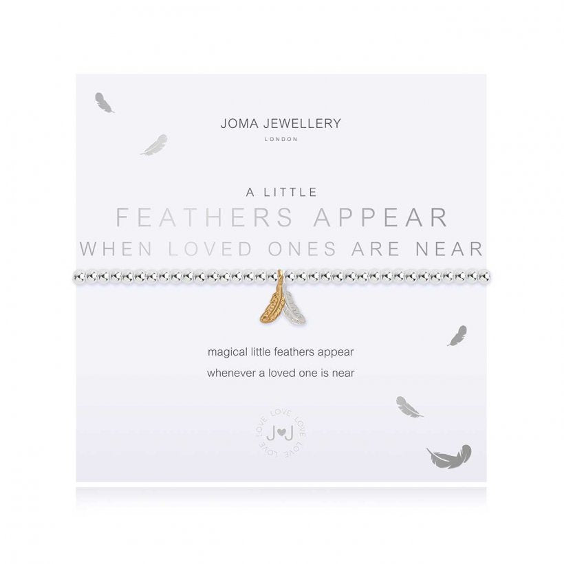 "Joma ""A Little Feathers Appear When Loved Ones Are Near"" Bracelet"
