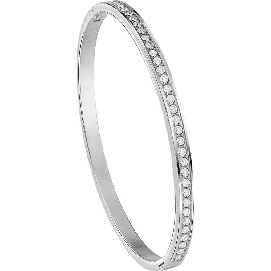 Guess All Around Bangle in Rhodium Plating