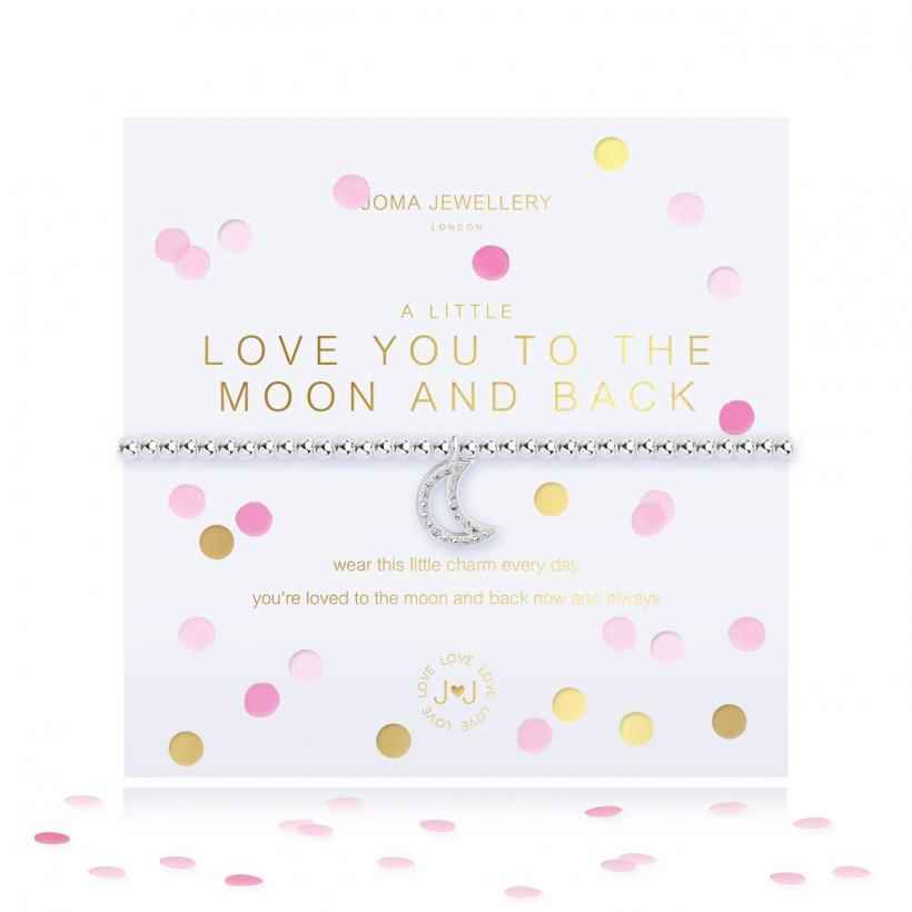 "Joma ""A Little Love You To The Moon & Back"" Confetti Bracelet"