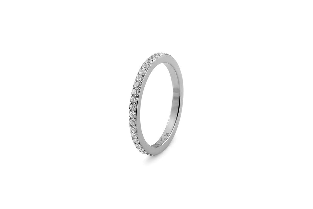Qudo Eternity Stacking Band in Steel