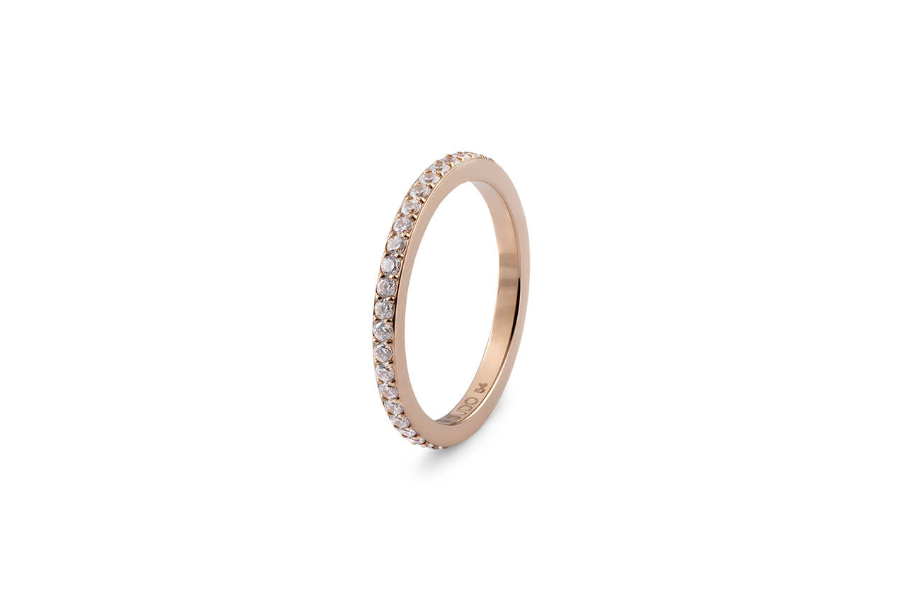 Qudo Eternity Stacking Band in Rose