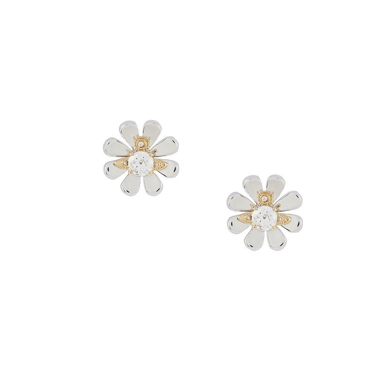 Vivienne Westwood Florette Earrings in Rhodium & Gold