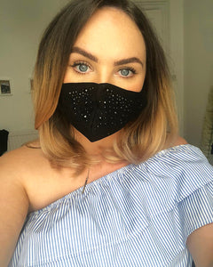Diamanté Sparkle Cotton Face Mask