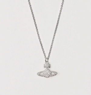 Vivienne Westwood Grace Bas Relief Necklace in Rhodium