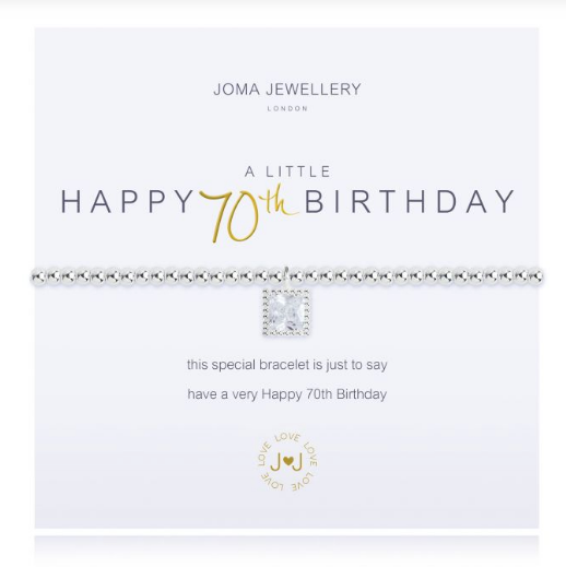 """A Little Happy 70th Birthday"" Bracelet"