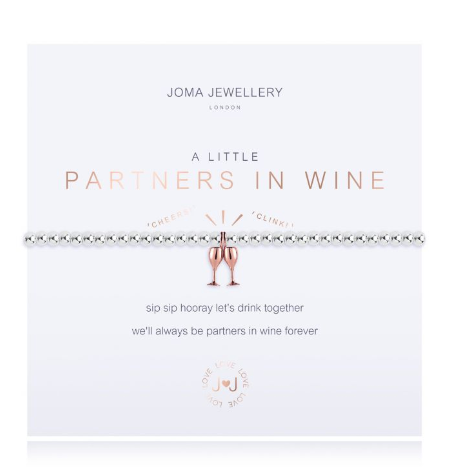 """A Little Partners in Wine"" Bracelet"
