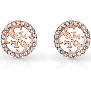 Guess Equilibre Crystal Earrings in Rose