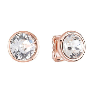Guess Miami Stud Earrings in Rose