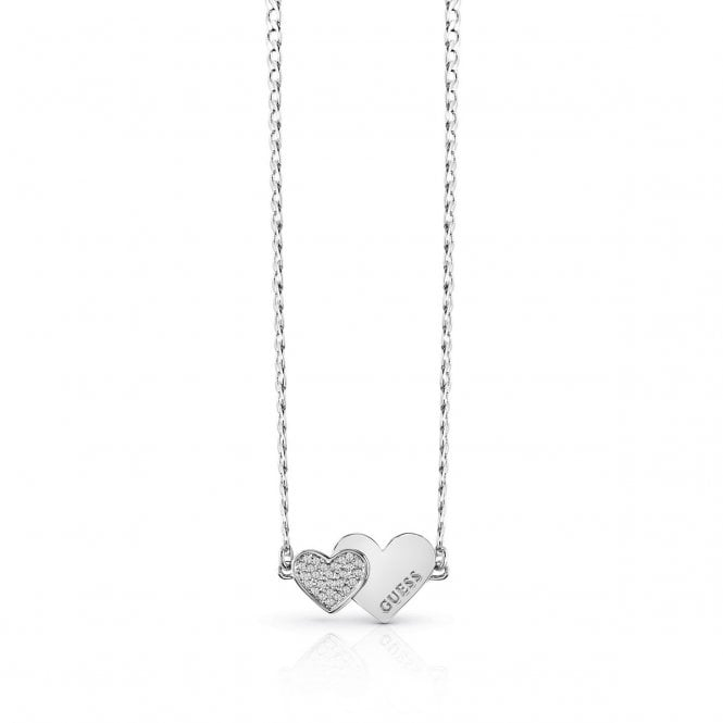Guess Me & You Necklace in Silver