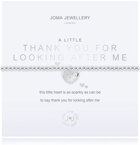 """A Little Thank You For Looking After Me"" Bracelet"