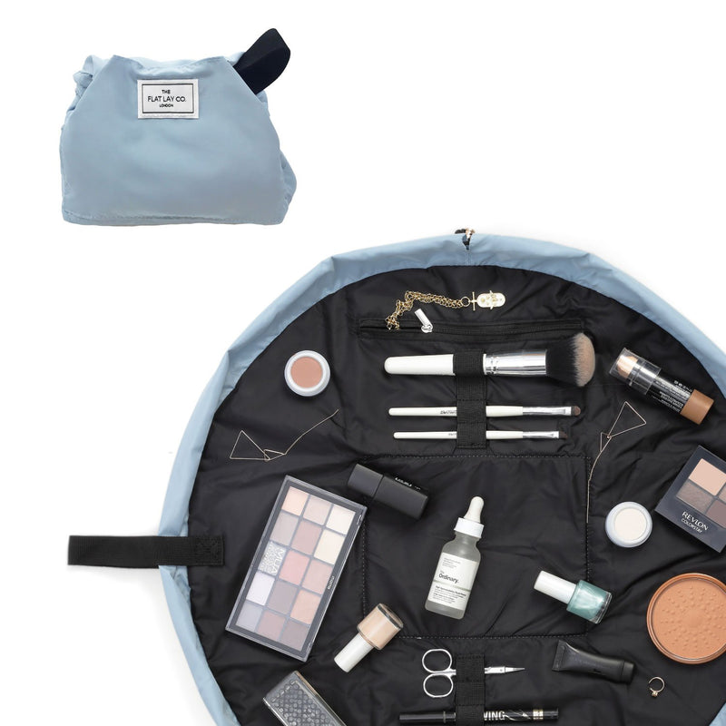 The Flat Lay Co. Haze Blue Full Size Flay Lay Makeup Bag