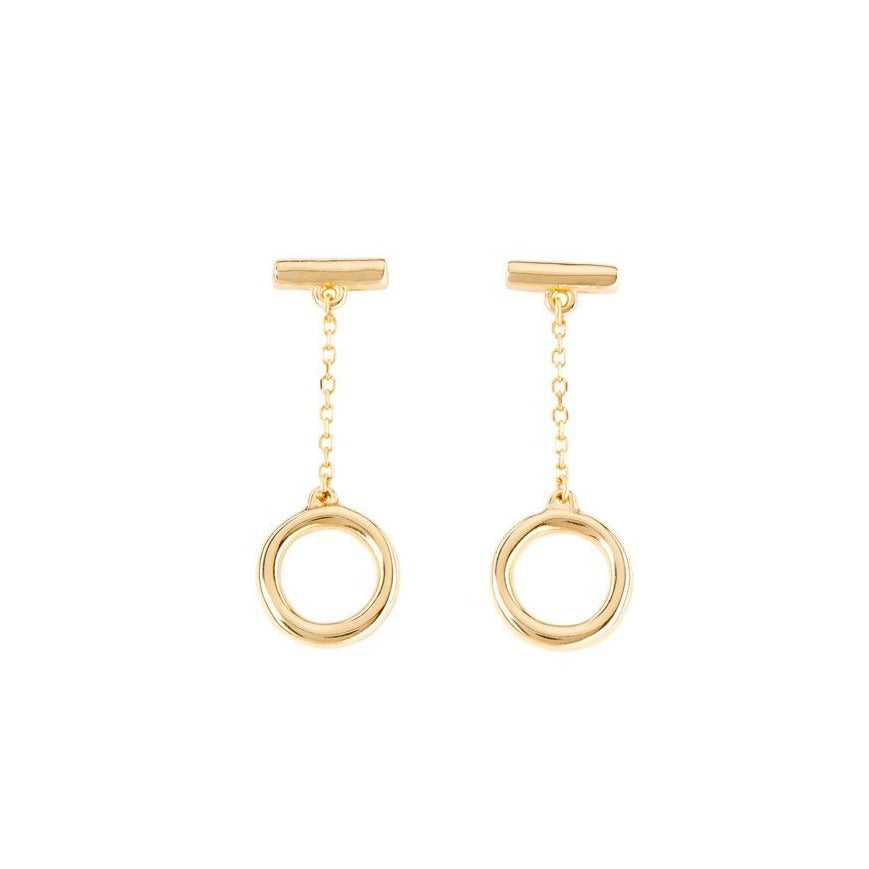 UNO de 50 On/Off Drop Earrings in Gold