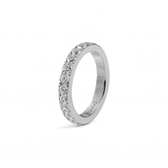 Qudo Thick Eternity Band in Stainless Steel