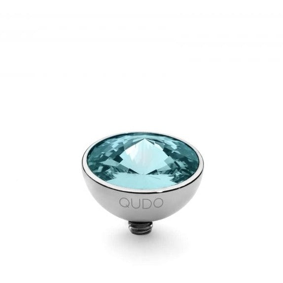 11.5mm Light Turquoise Bottone in Steel