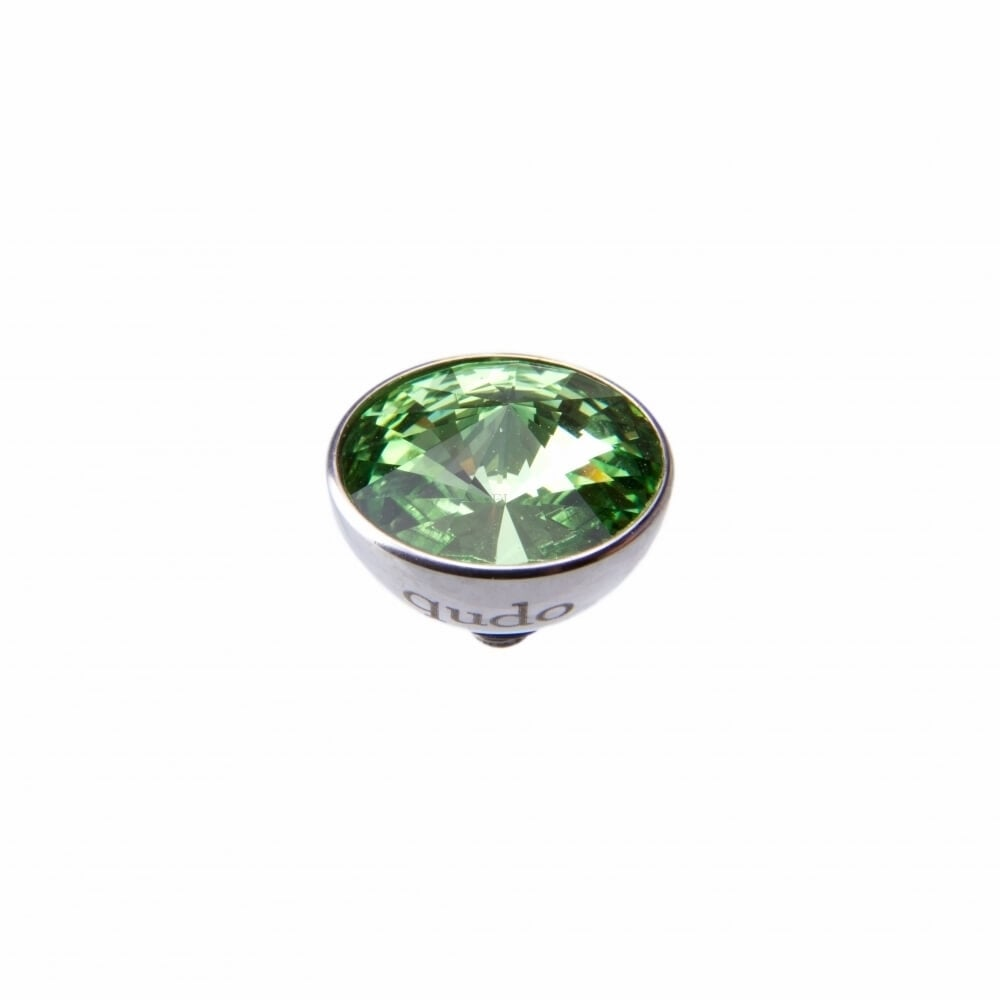 11.5mm Peridot Bottone in Steel